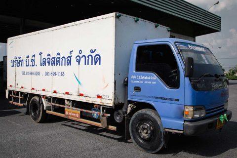 รถบรรทุกหกล้อตู้ทึบ ขนาดกลาง